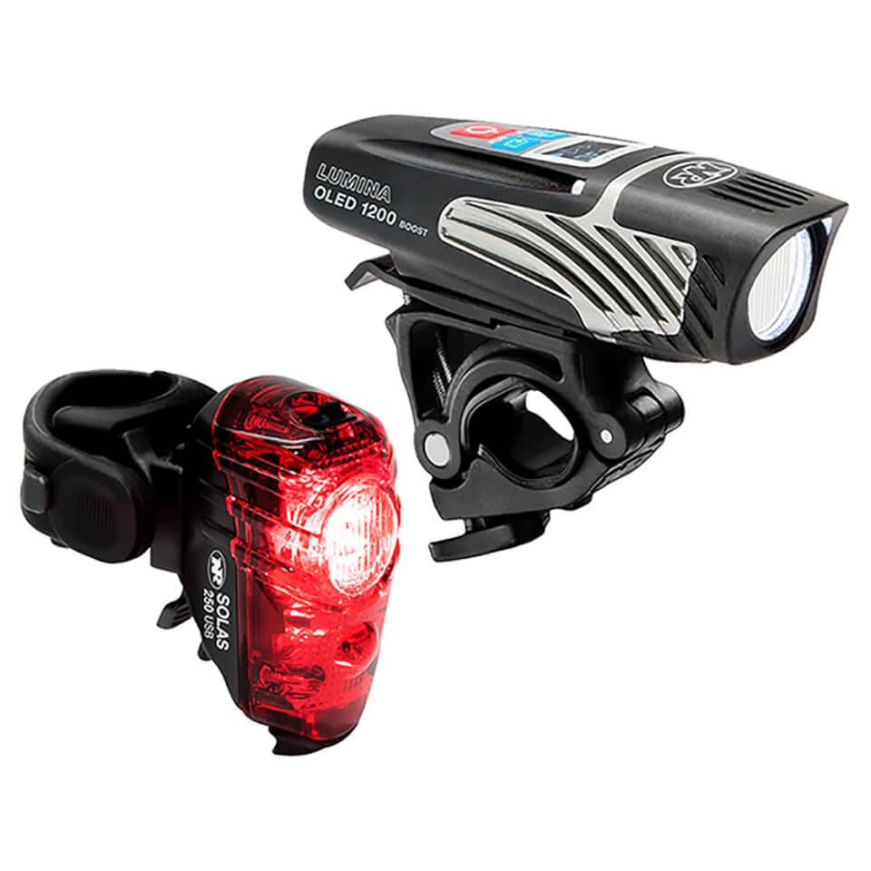 Niterider Lumina 1200 OLED Boost/ Solas 250 Combo Light Set | Lygtesæt