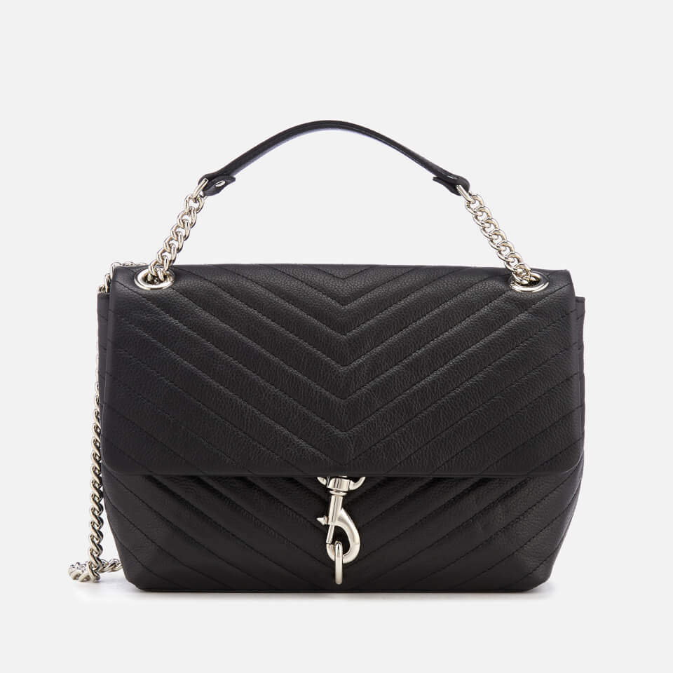 Rebecca Minkoff Women s Edie Flap Shoulder Bag - Black Womens Accessories  f98bf8580