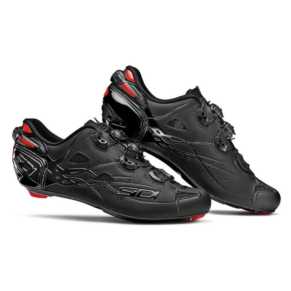 Sidi Shot Matt Road Shoes - Total Black | Shoes and overlays