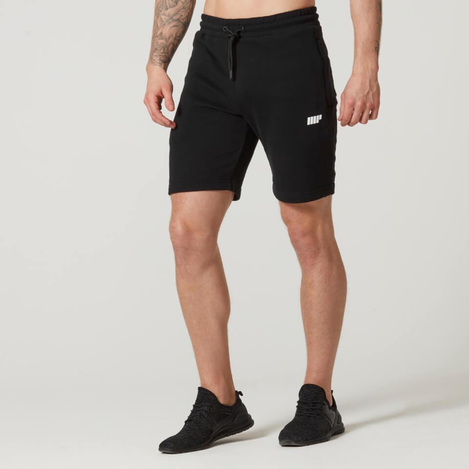 Myprotein Tru-Fit Zip Sweatshorts - Black | Jerseys