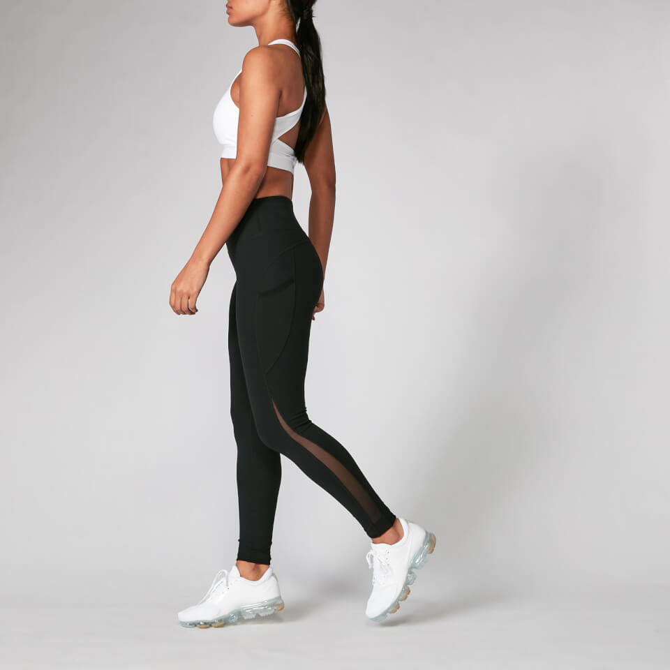Myprotein Power Mesh Leggings - Black | Trousers