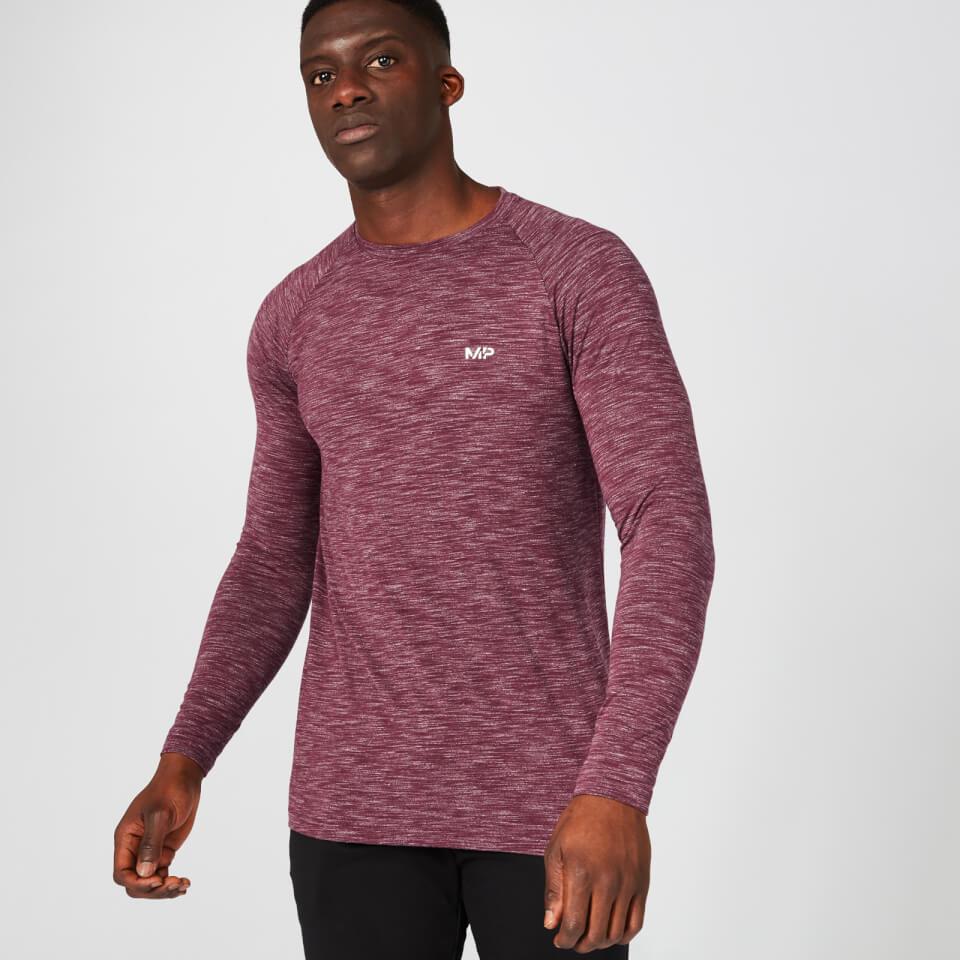 Myprotein Performance Long Sleeve T-Shirt - Burgundy Marl | Jerseys