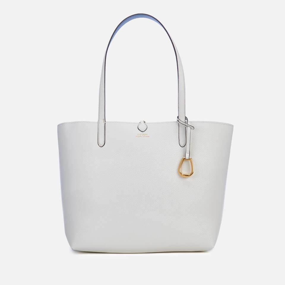 e63482283 Lauren Ralph Lauren Women's Merrimack Reversible Medium Tote Bag -  Vanilla/Blue Mist