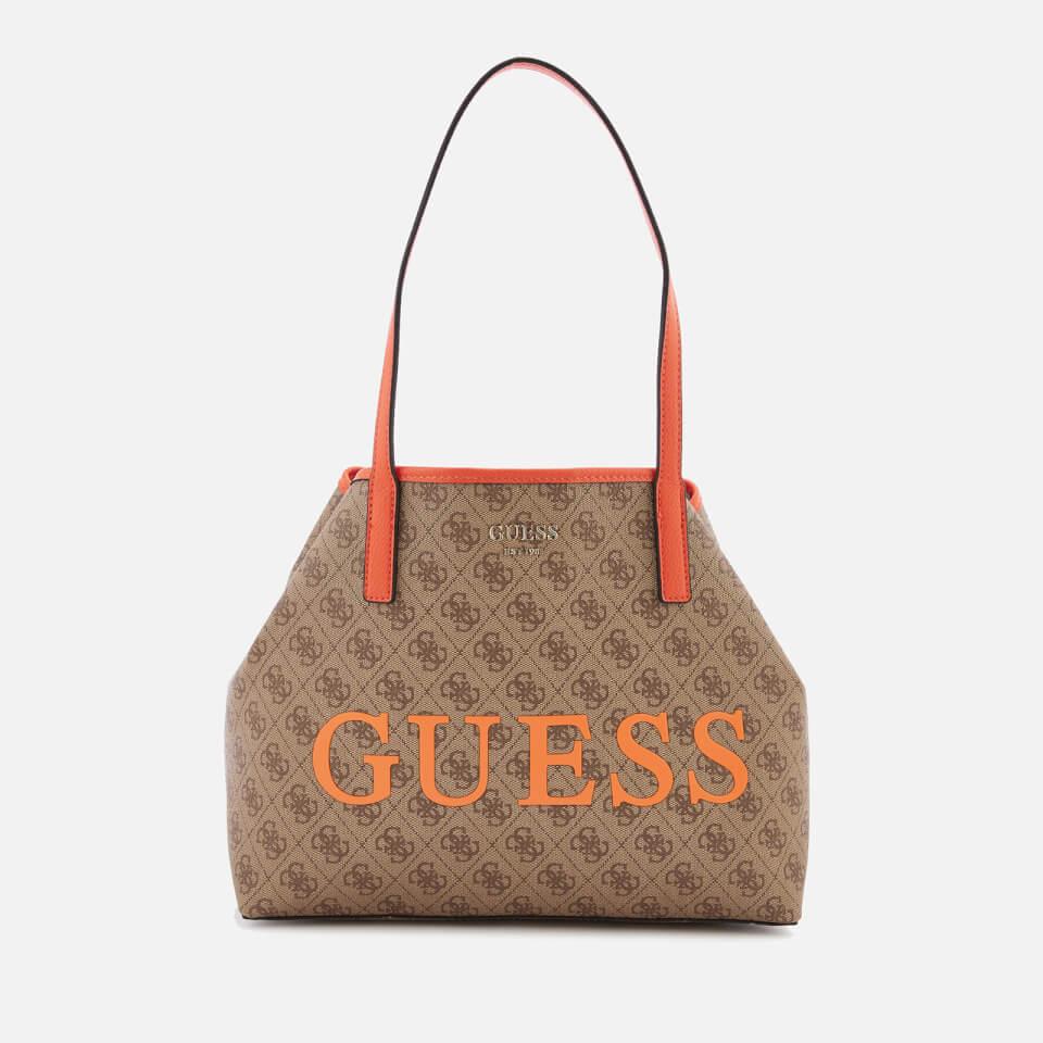 4d6b0be172 Guess Women s Vikky Tote Bag - Brown Orange