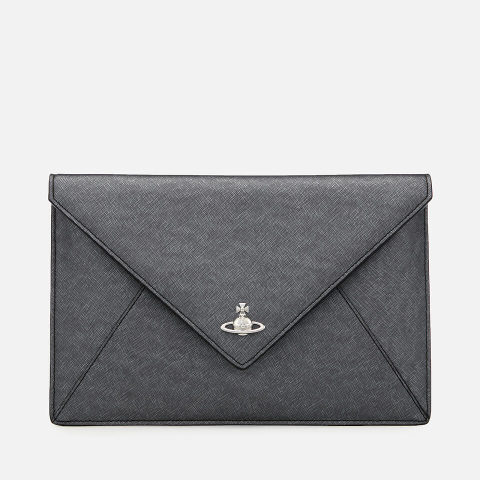 0c5e43405863 Vivienne Westwood Women s Victoria Envelope Clutch Bag - Anthracite
