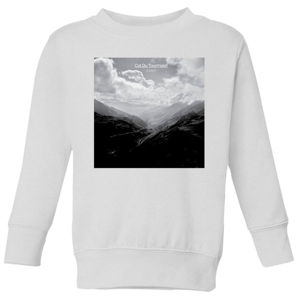 Summit Finish Col du Tourmalet Scenery Kids' Sweatshirt - White | Jerseys