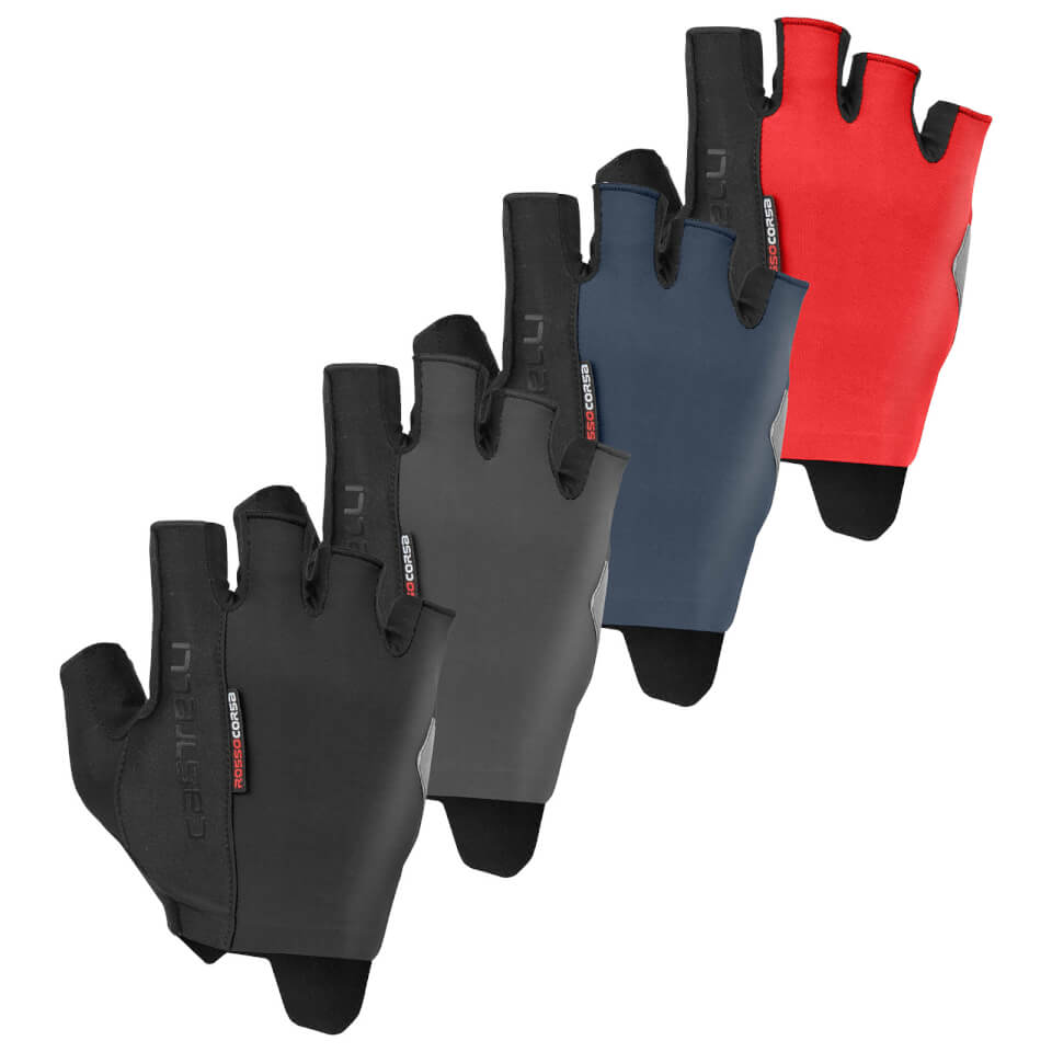 CASTELLI ROSSO CORSA ESPRESSO HANDSKER BLACK | Handsker
