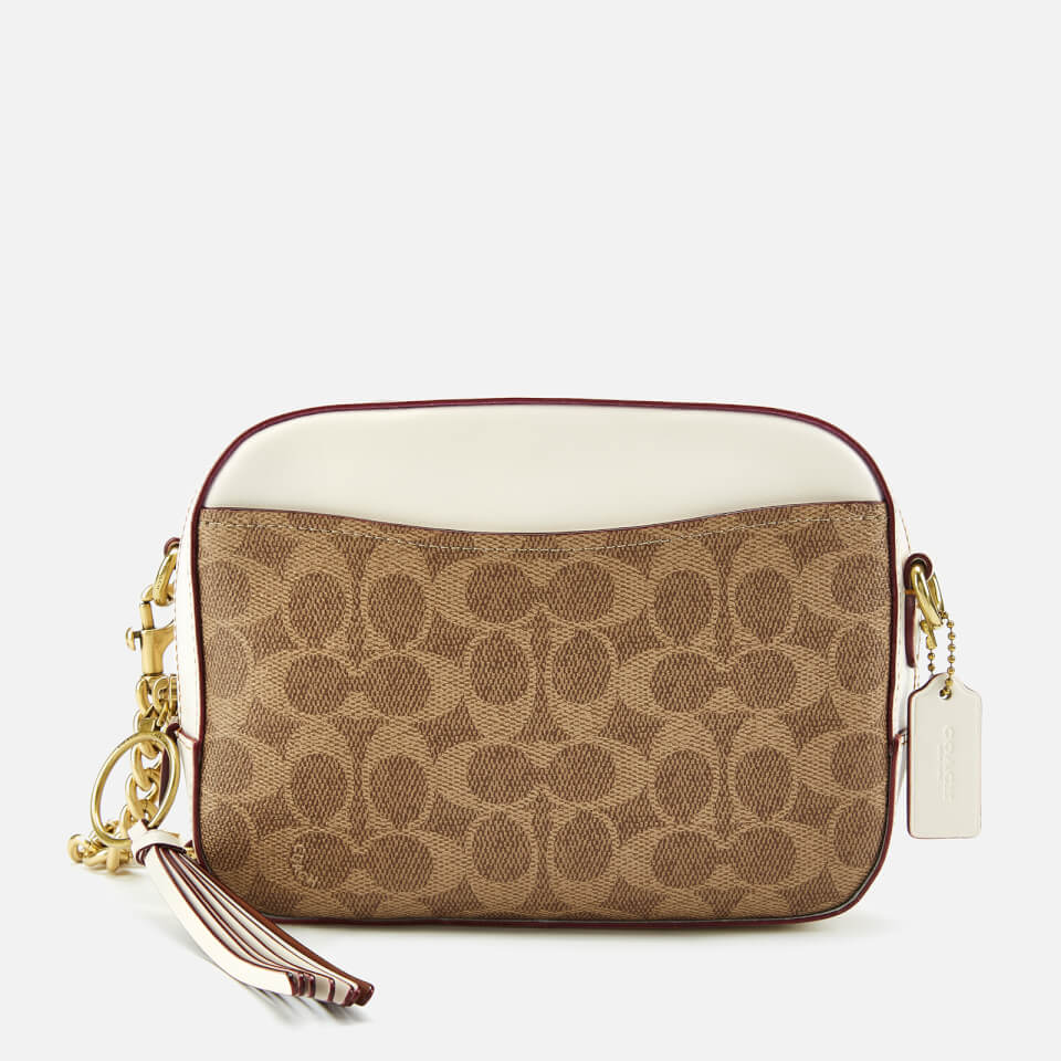 dca611d90335 Coach Women s Coated Canvas Signature Camera Bag - Tan Chalk