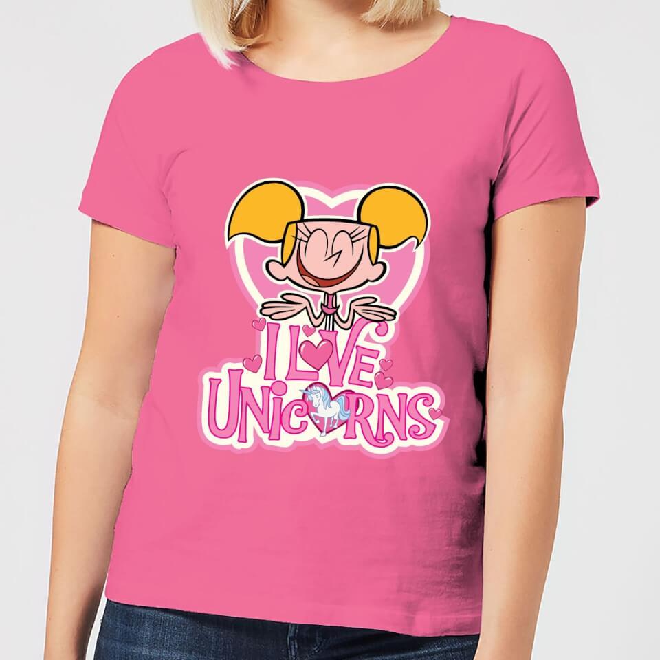 290f3690f Dexters Lab Dee Dee I Love Unicorns Women's T-Shirt - Pink   IWOOT