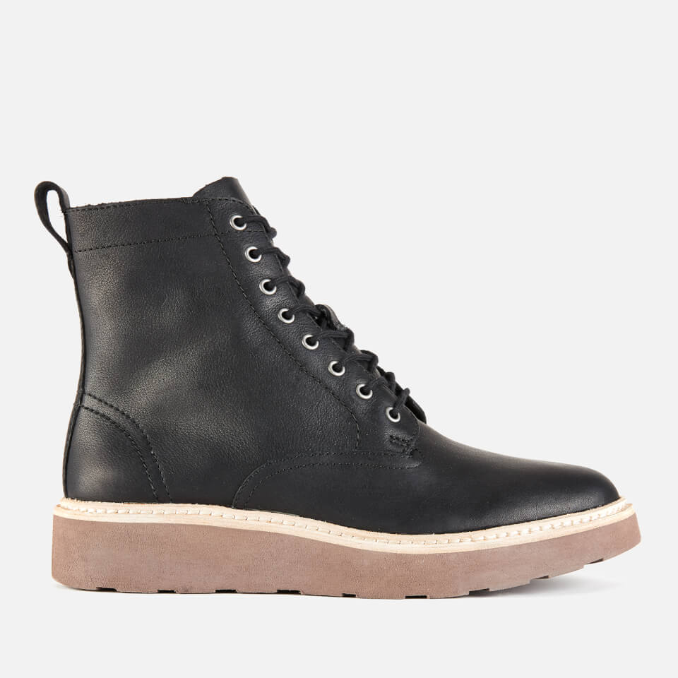 Clarks Women S Trace Pine Leather Lace Up Boots Black