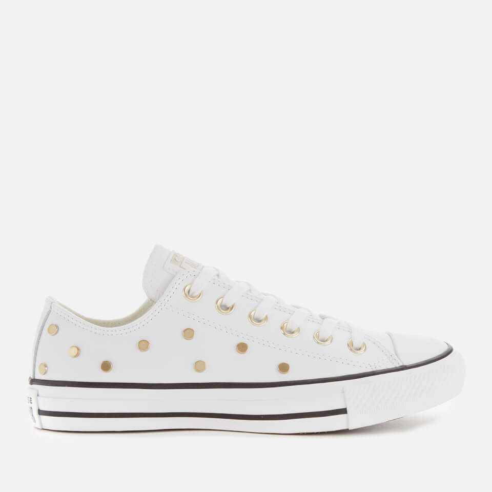 Converse Women's Chuck Taylor All Star Studded Ox Trainers WhiteLight GoldBlack