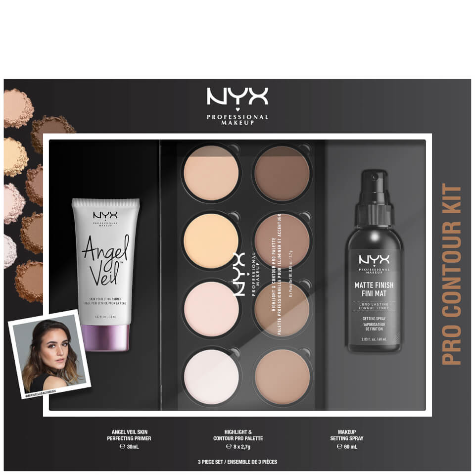 Nyx Professional Makeup Pro Contour Gift Set (Worth £40.00) by Look Fantastic