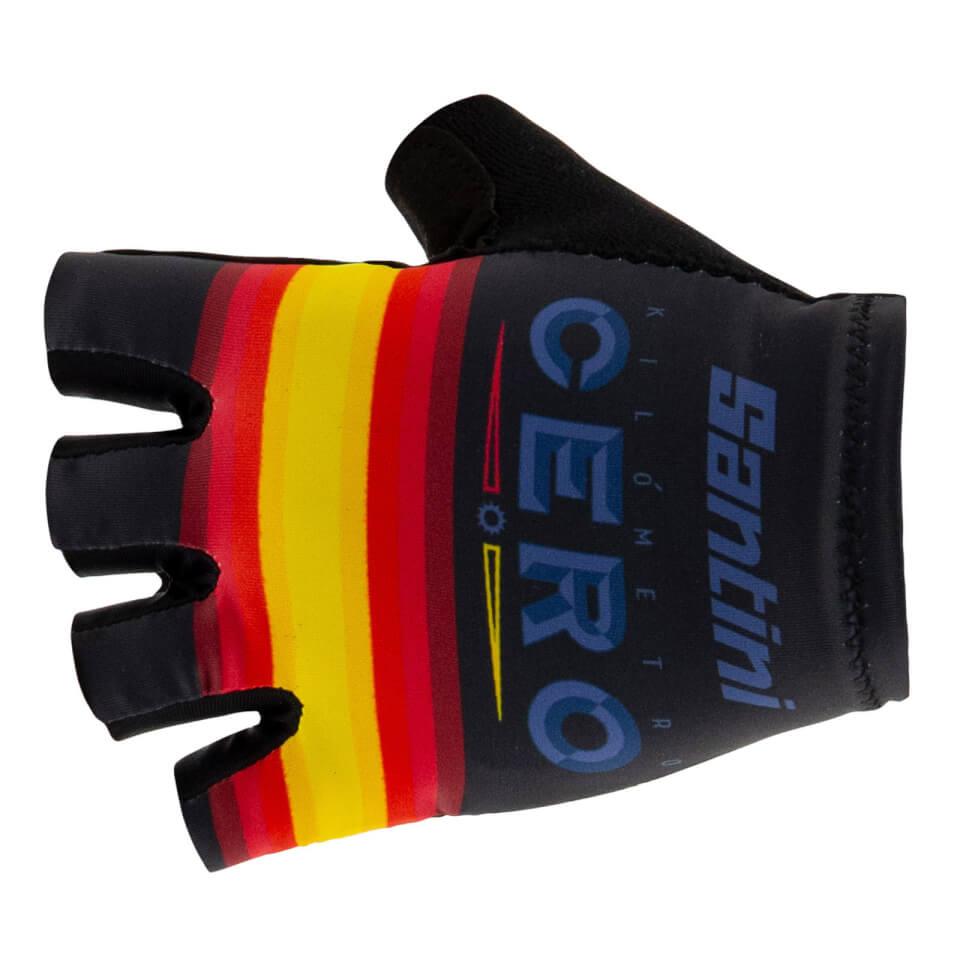 Santini La Vuelta 19 Kilometro Cero Gloves | Handsker