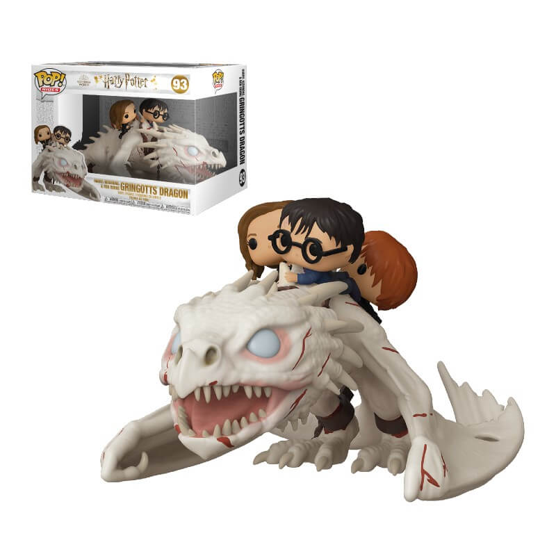 Harry Potter Dragon With Harry Ron Hermione Funko Pop Ride Pop In A Box Uk