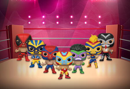 Marvel Luchadores Funko Pops
