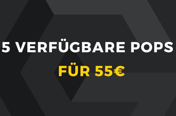 5 Pops auf Lager für 55€