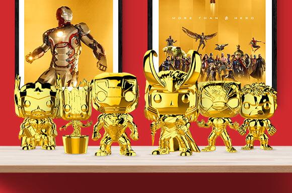 Marvel Gold Chrome Pops!
