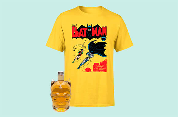 FREE T-SHIRT WITH BATMAN DECANTER