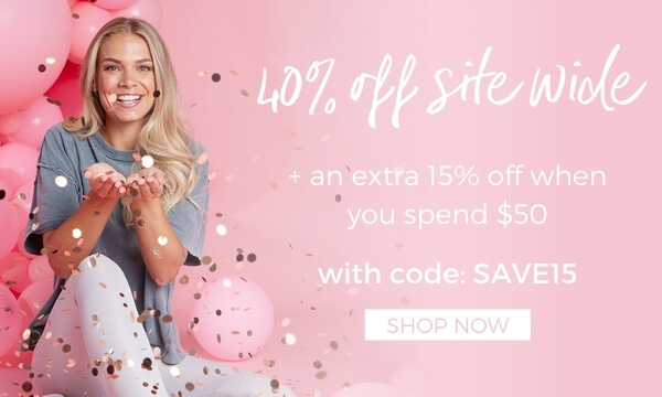 40% off + extra 15% off when you spend $50 with code: SAVE15