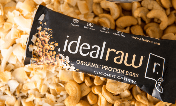 IdealRaw Organic Protein Bars Coconut Cashew