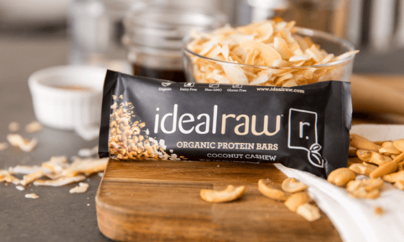 IdealRaw Organic Protein Bar Coconut Cashew