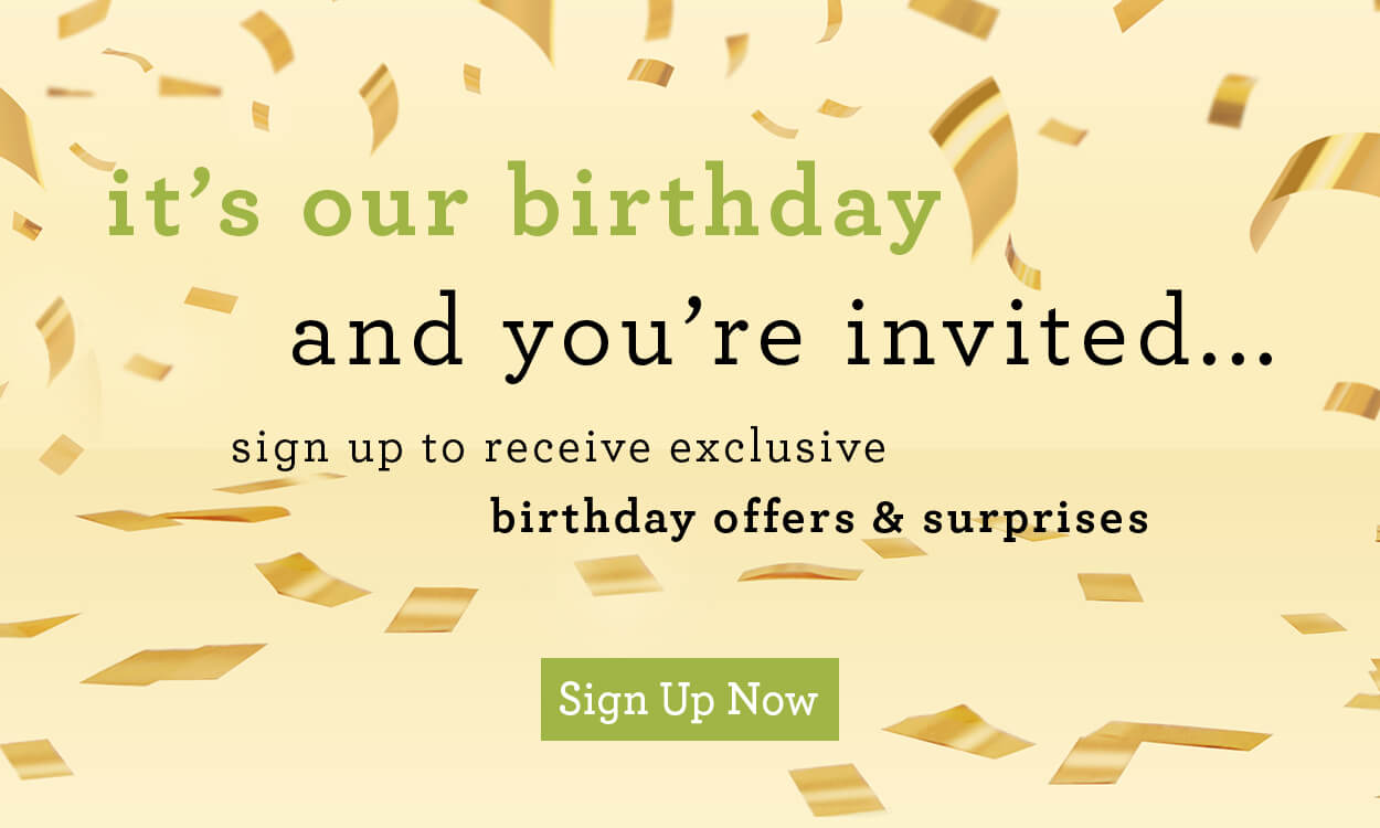 IdealRaw Birthday Sign Up