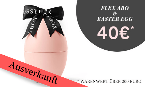 Die ikonische rosa Box + das GLOSSYBOX Easter Egg