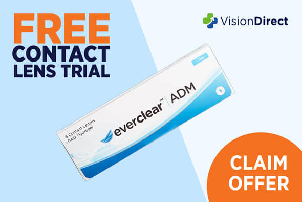 FREE contact lens trial - 2 Trial boxes for FREE