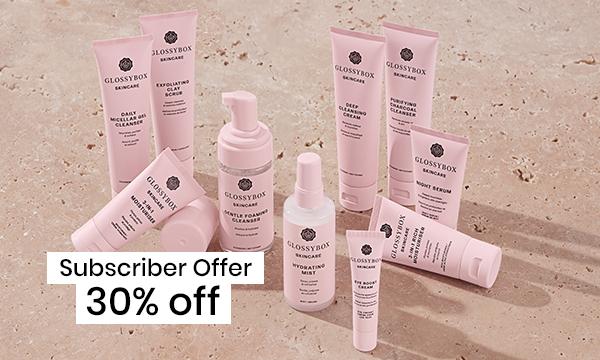 30% off GLOSSYBOX Skincare