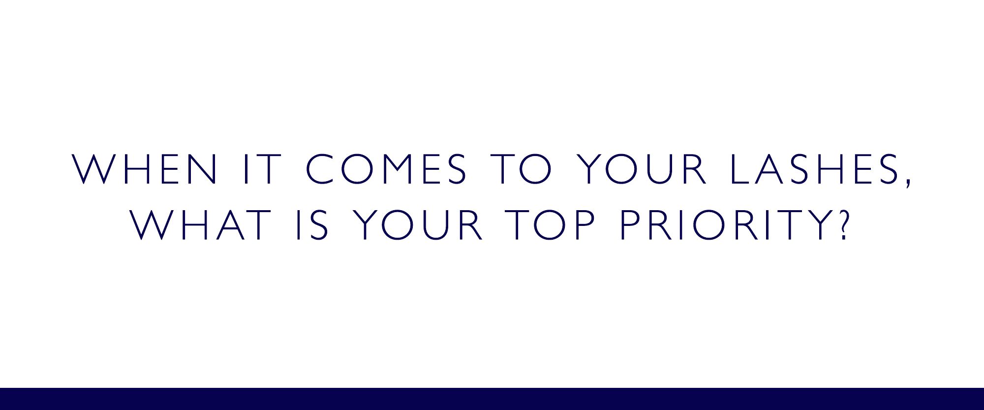 What is your top priority for the formula?