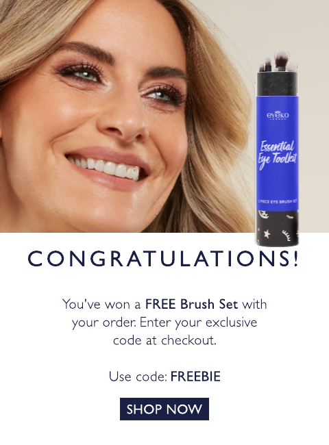 Free Brush Set with code: FREEBIE