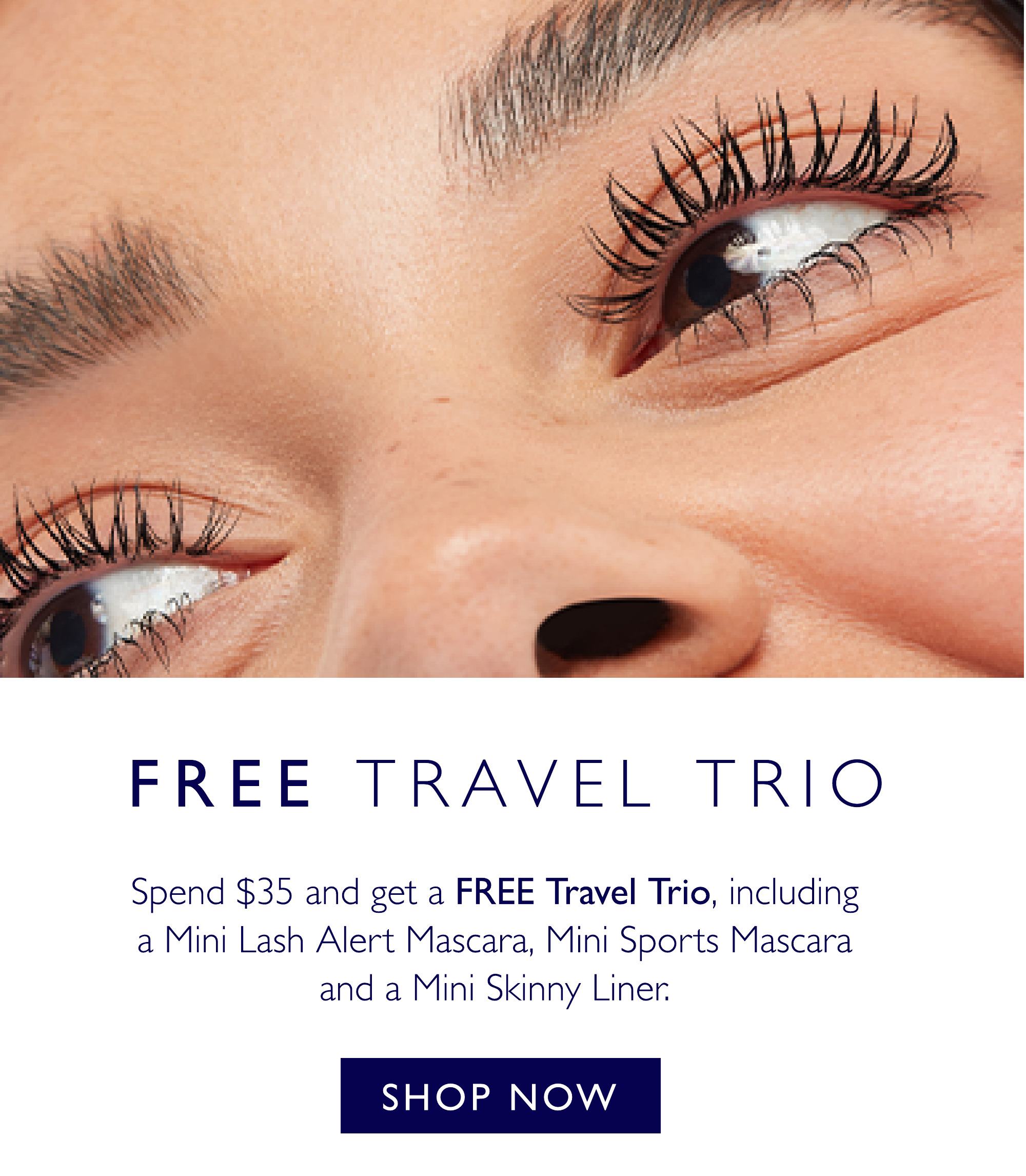 Receive a free travel trio when you spend $35