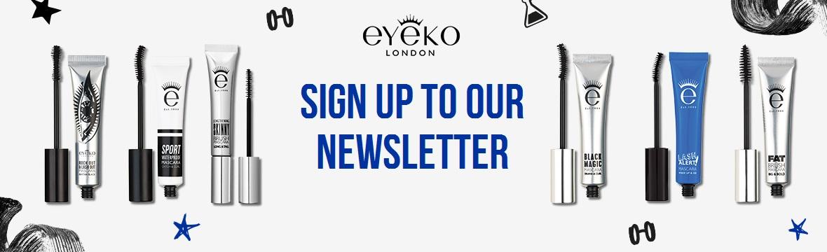 Sign up the Eyeko newsletter