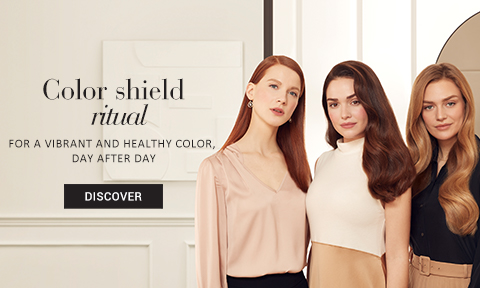 Color Shield Range - Locks color pigments inside the hair fibre, protects the vibrancy of your color and nourishes hair deep down