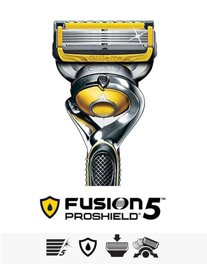 Fusion5 ProShield Rasierer für optimalen Hautschutz | Rasur ohne Hautrötungen | Gillette DE