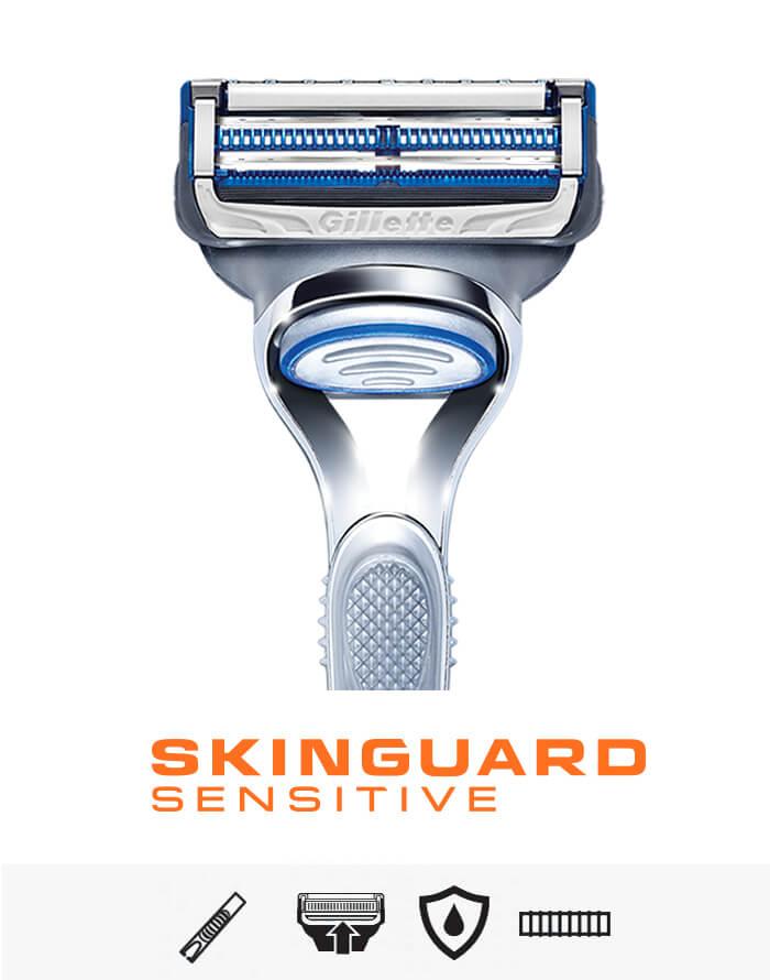 SkinGuard Sensitive Portfolio entdecken | Informationen direkt vom Hersteller Gillette