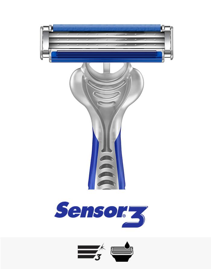 Sensor3 Einwegrasierer: weltweit der meistverkaufte Einwegrasierer mit drei Rasierklingen | Gillette DE