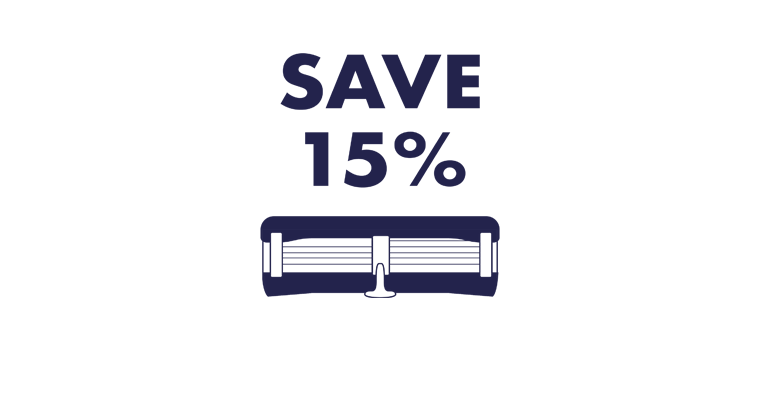 Save 15% on Razor Blades
