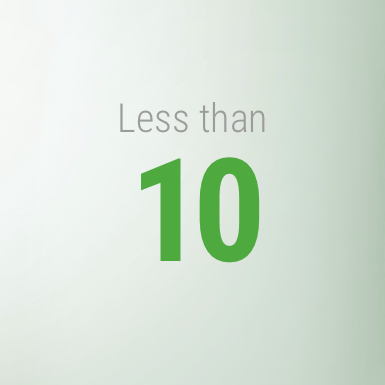 Less than 10