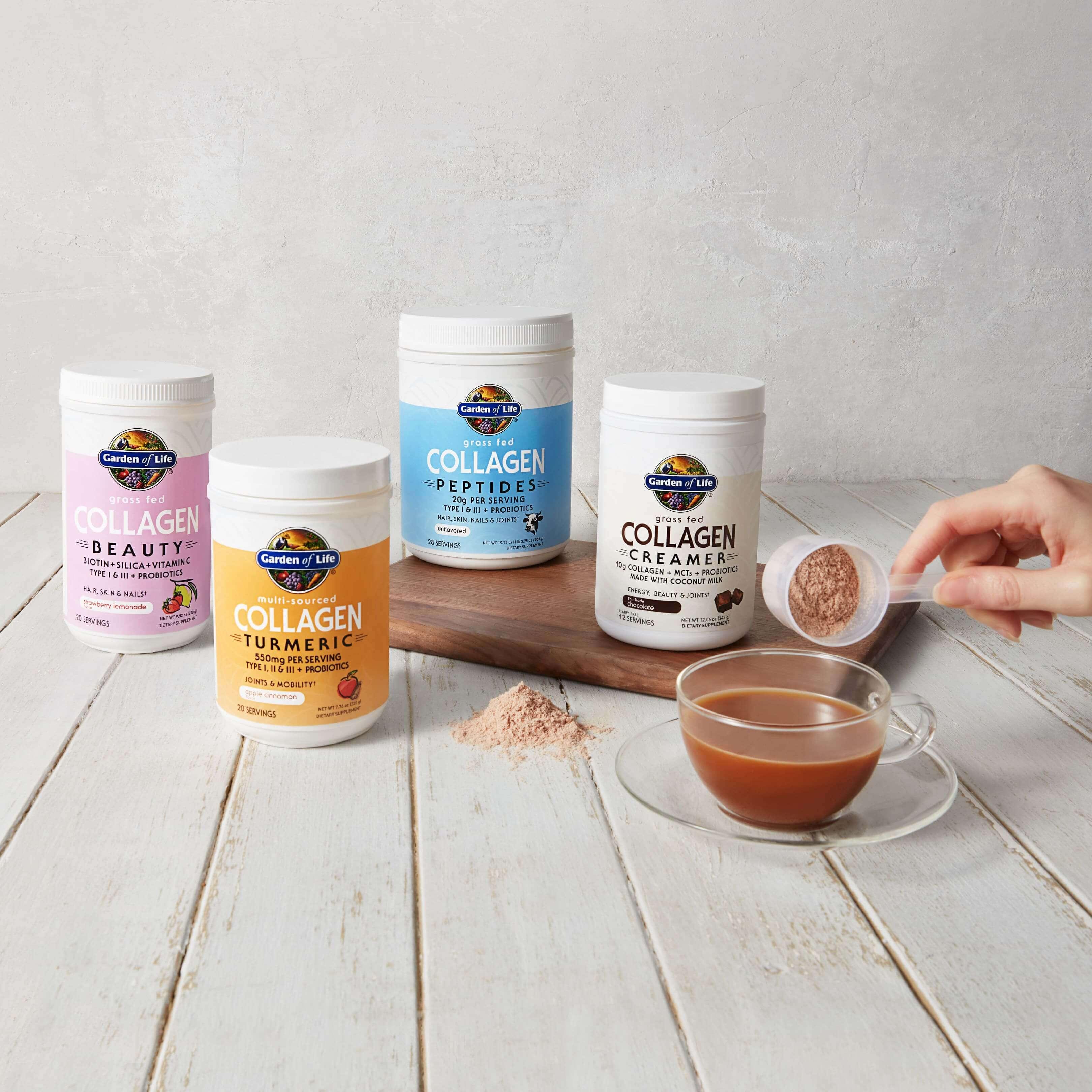 I prodotti al collagene sono interamente privi di OGM, certificati per le diete paleo e chetogenica e privi di glutine, come attestato dalla NSF.
