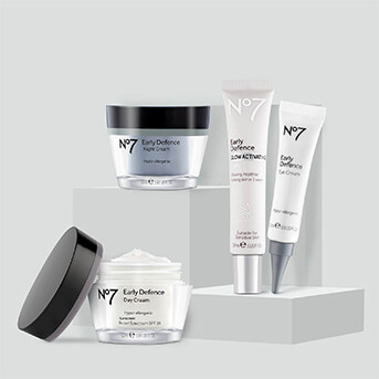 No.7 Early DefenceRange: Serum, Eye Cream, Night Cream and Day Cream