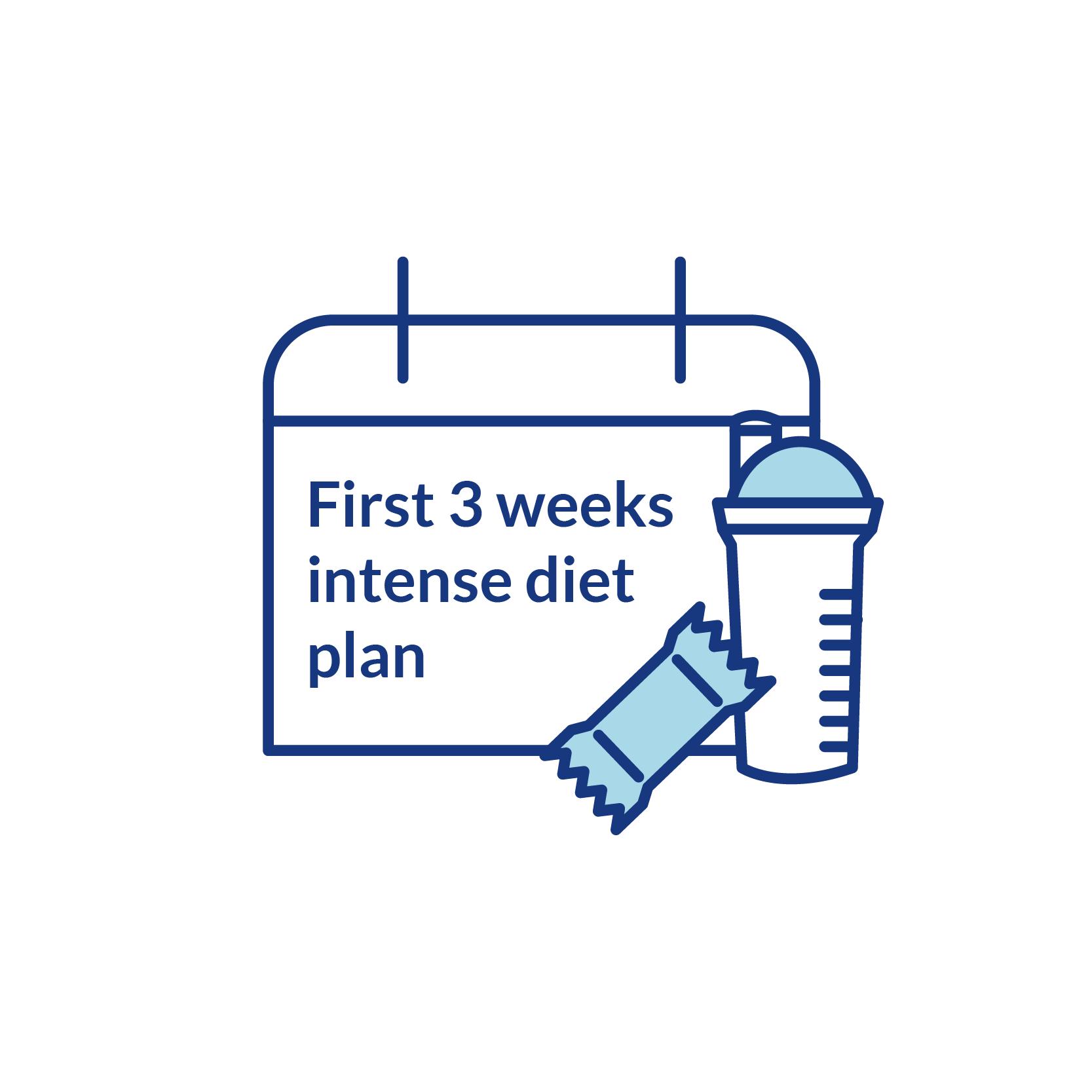 First 3 weeks intense diet plan