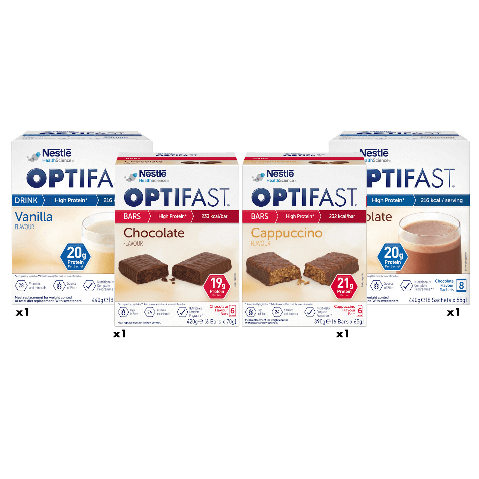 Image showing a range of the OPTIFAST products