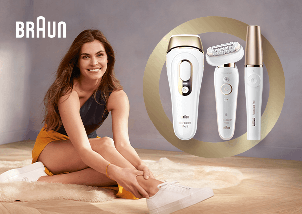 Save up to 50% on selected Braun Epilators