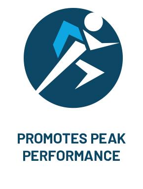 PROMOTES PEAK PERFORMANCE
