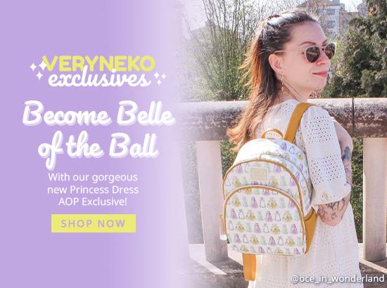 Loungefly Disney Princess Dress AOP Mini Backpack - VeryNeko Exclusive