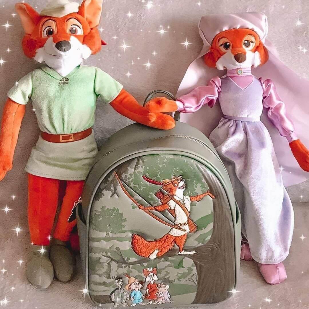 Loungefly Disney Robin Hood Forest Mini Backpack - VeryNeko Exclusive