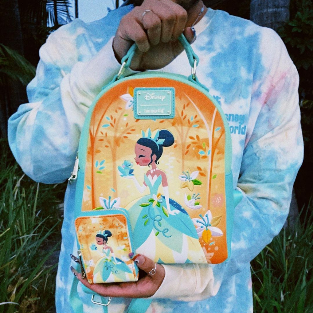 Loungefly Disney Princess and The Frog Tiana Mini Backpack and Wallet Set