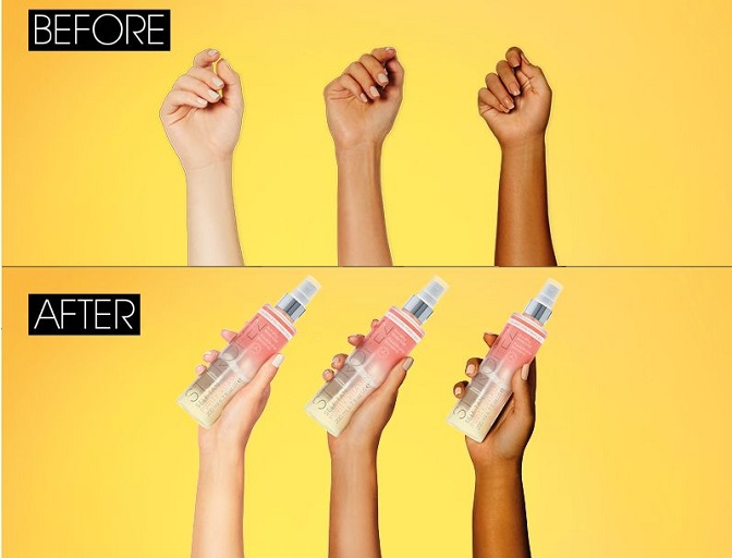 St.Tropez Self Tan Purity Vitamins before and after