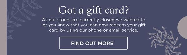 Got a gift card?